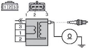 Схема проверки высоковольтных обмоток катушки зажигания на короткое замыкание на