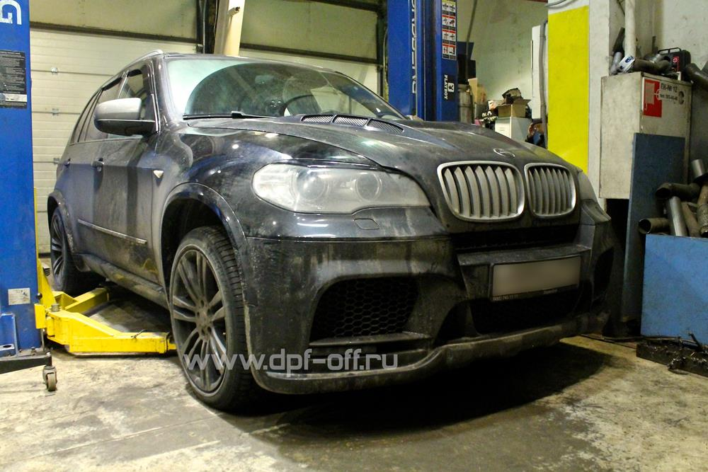Удаление сажевого фильтра на BMW X5 50d (E70)