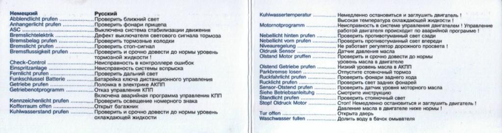 Перевод коды расшифровка ошибок бмв 5 е39