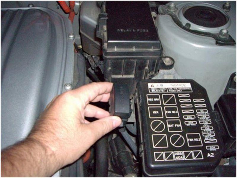 Диагностический разъем DLC-1 в Toyota Corolla