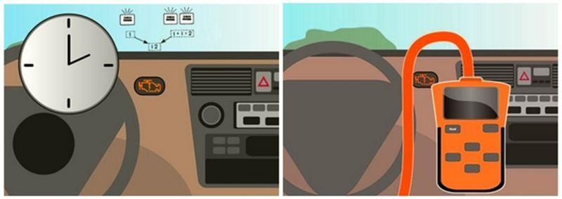 Диагностика по мерцанию значка сheck-еngine и диагностика авто компьютером в Toyota Corolla
