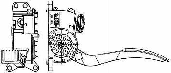 Датчик положения педали акселератора Bosch 0 280 755 115