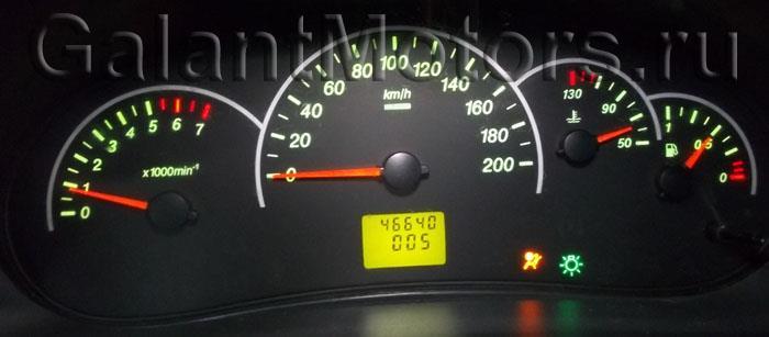 лампа airbag на приборке