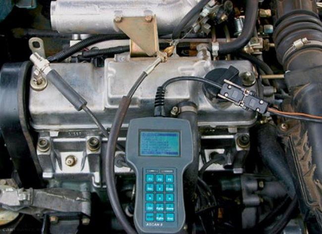 Диагностические операции при помощи портативного ПК на двигатели ВАЗ-2112