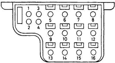 16-ти контактный прямоугольный разъем