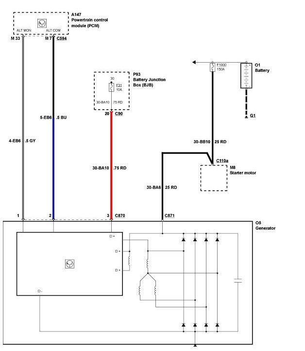 схема подключения генератора форд фокус 2