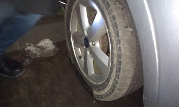 Спущенное колесо Ford Focus 2