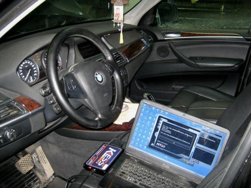 BMW X5 E70 3.0L - Подключение прибора KESS