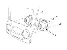 снятие блока управления вентилятором и кондиционером