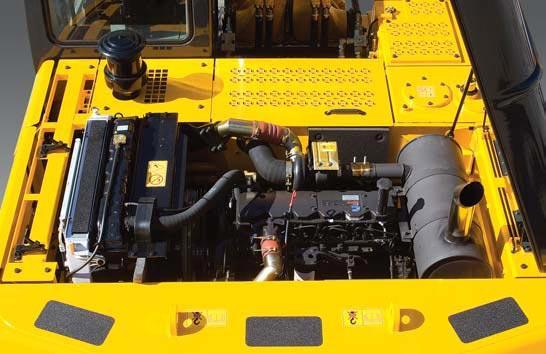 Cистема охлаждения и холодного пуска в экскаваторе hyundai