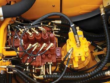 Мощное и точное управление поворотом экскаватора hyundai