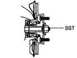 Снятие, разборка, сборка и установка передних приводных валов Lexus RX300