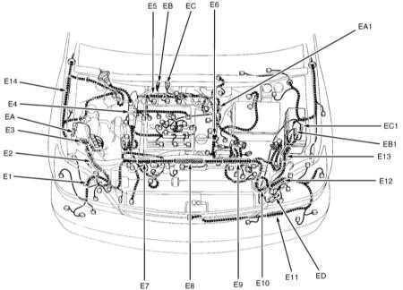 Принципиальные схемы электрических соединений Lexus RX300