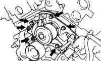 Снятие, проверка и установка водяного насоса Lexus RX300