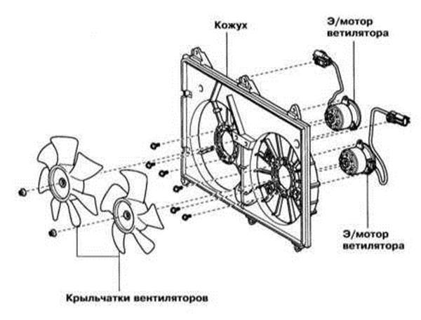 Снятие и установка радиатора и вентиляторов Lexus RX300