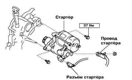 Снятие и установка стартёра Lexus RX300