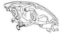 Регулировка наклона фар Lexus RX300