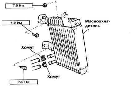 Снятие и установка охладителя ATF Lexus RX300