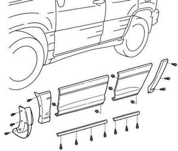 Снятие и установка молдингов Lexus RX300