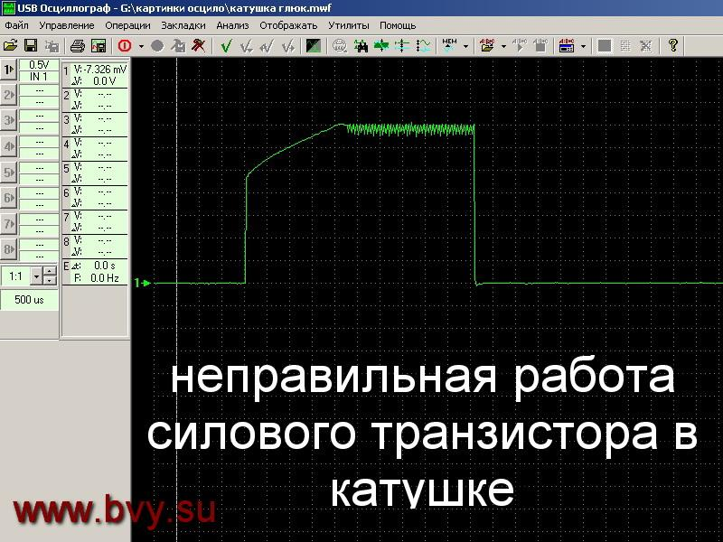 форма сигнала на катушку двигатель VQ25DD VQ30DD_2