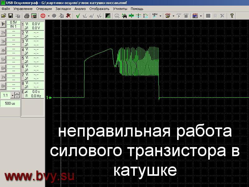 форма сигнала на катушку двигатель VQ25DD VQ30DD_3