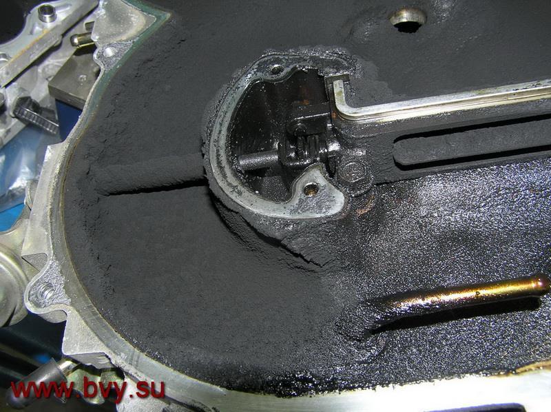 сажа в коллекторе двигатель VQ25DD_2
