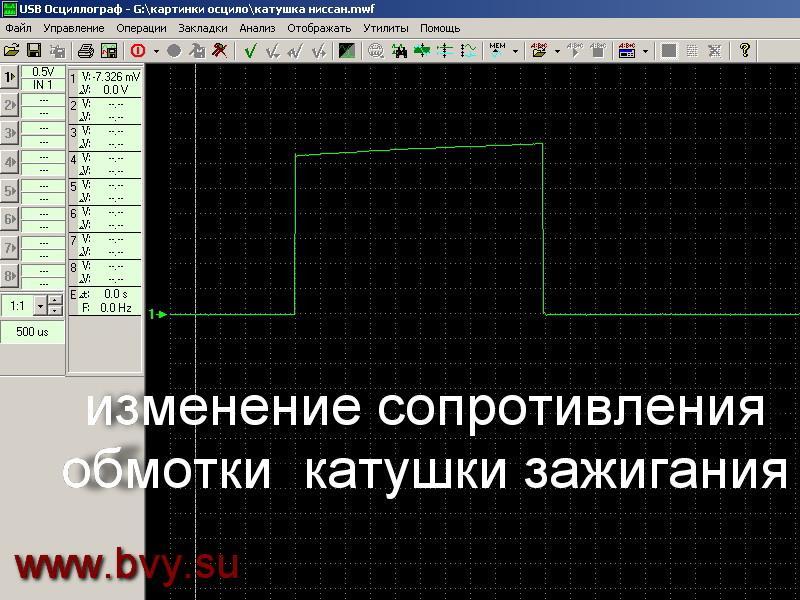форма сигнала на катушку двигатель VQ25DD VQ30DD_1