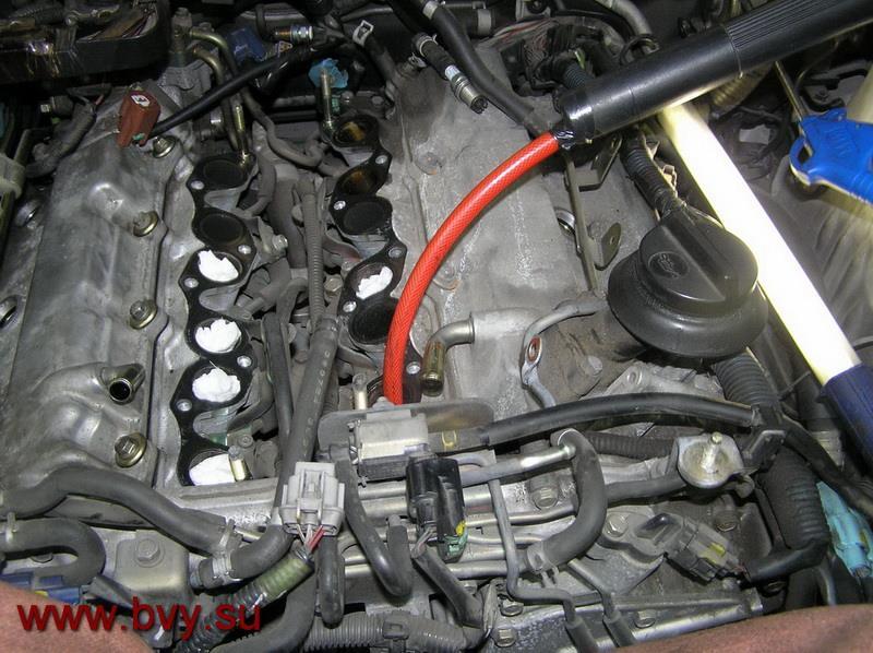 сажа на клапанах- чистка двигатель VQ25DD