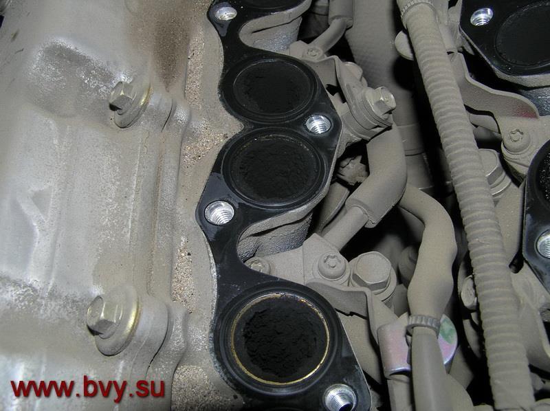 сажа на клапанах- чистка двигатель VQ25DD_2