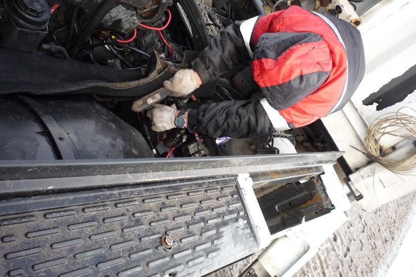 Ремонт электропроводки грузовика Рено