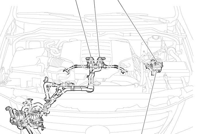 схема системы вторичного воздуха тойота, лексус