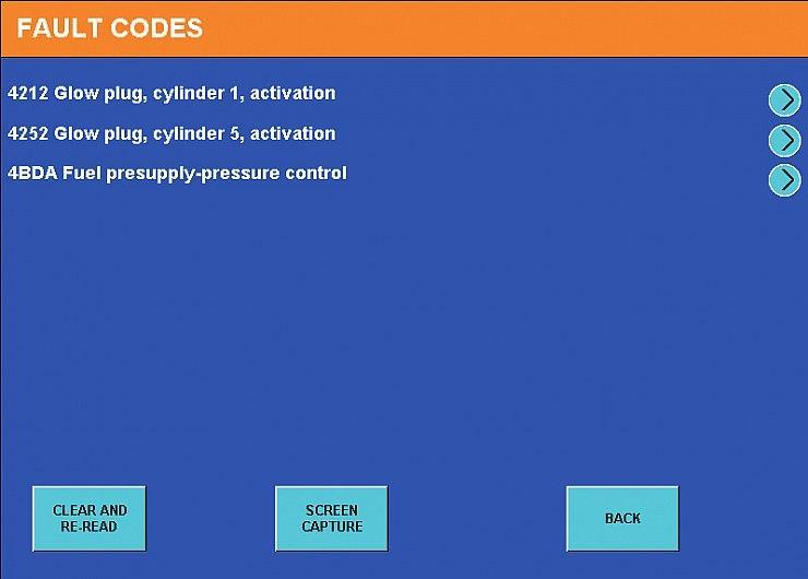 Экран 9. Коды ошибок