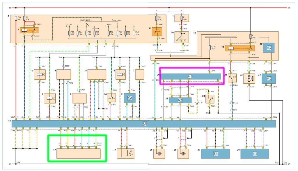 схема электронной системы управления двигателем форд фокус 2
