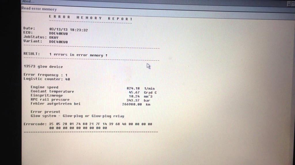 двузначные коды ошибок bmw