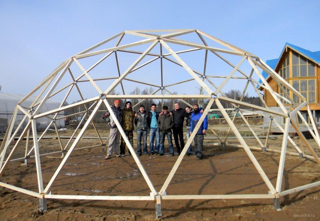 Геодезический купол часть 1