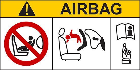 Именно поэтому перевозка детей на переднем сидении в авто с Airbag — запрещена