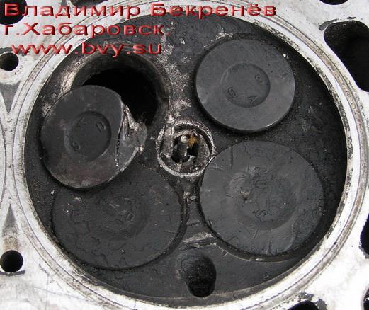 оторванный клапан в головке двигатель 3S-FSE