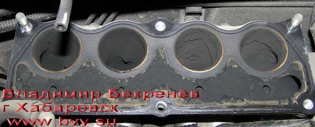 сажа в коллекторе двигатель 3S-FSE
