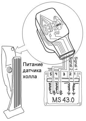 датчик положения педали акселератора pwg bmw m54
