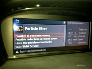 Ошибка по сажевому фильтру на приборной панели BMW e60