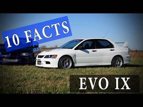 10 Facts // Mitsubishi Lancer Evolution IX // EVO 9 - Lancer evolution 9