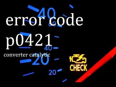 ?como limpiar catalizador con CATACLEAN ERROR CODE P0421