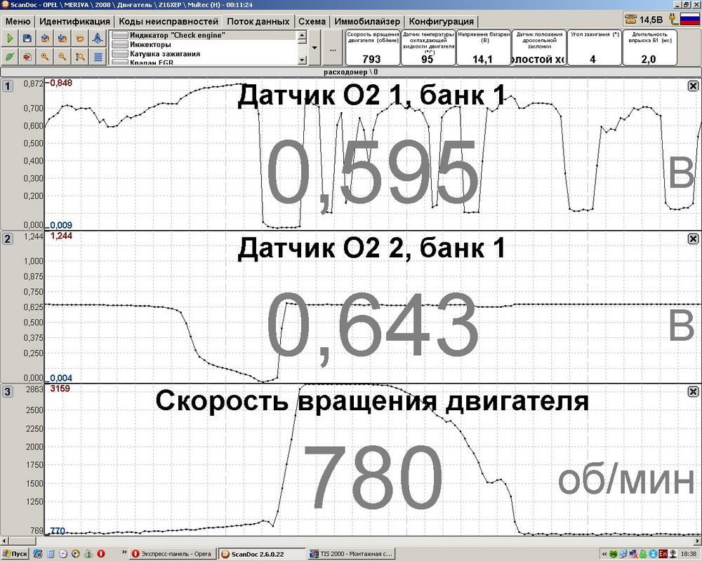 Опель Мерива ДК B2S2 ок