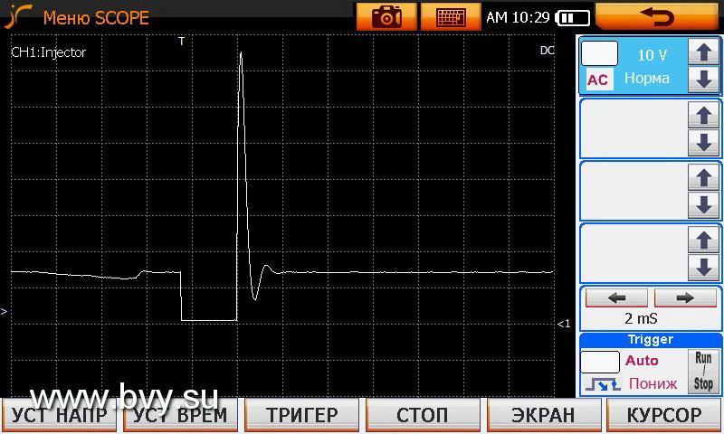 импульс на инжекторе 1JZ-GE