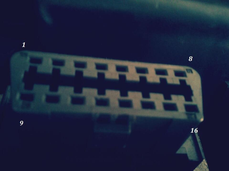 Honda Odyssey диагностический разъем