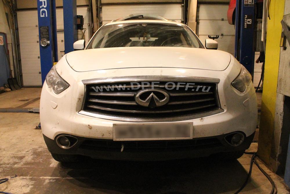 Удаление сажевого фильтра на автомобиле Infiniti FX30d