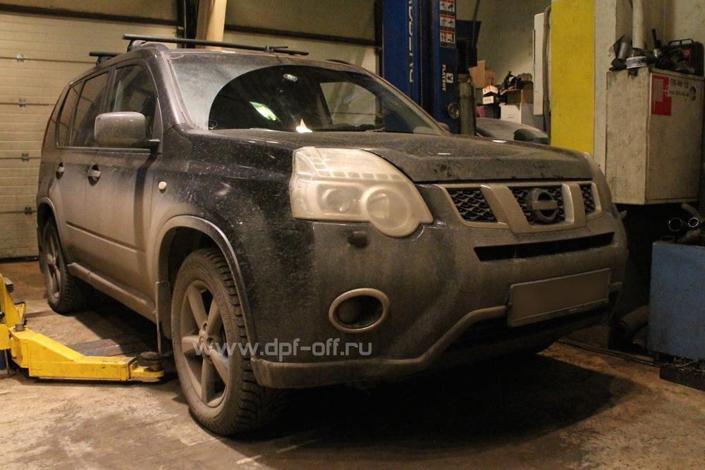 Удаление сажевого фильтра на Nissan X-Trail 2.0d