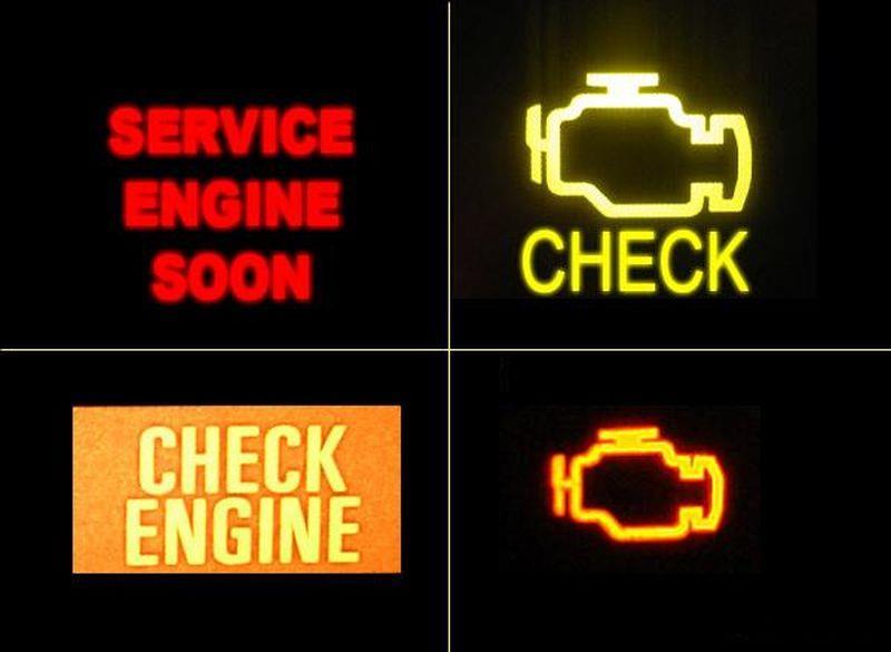 Визуальная схема индикатора ошибки на разных авто, в т.ч. и на Kia Rio
