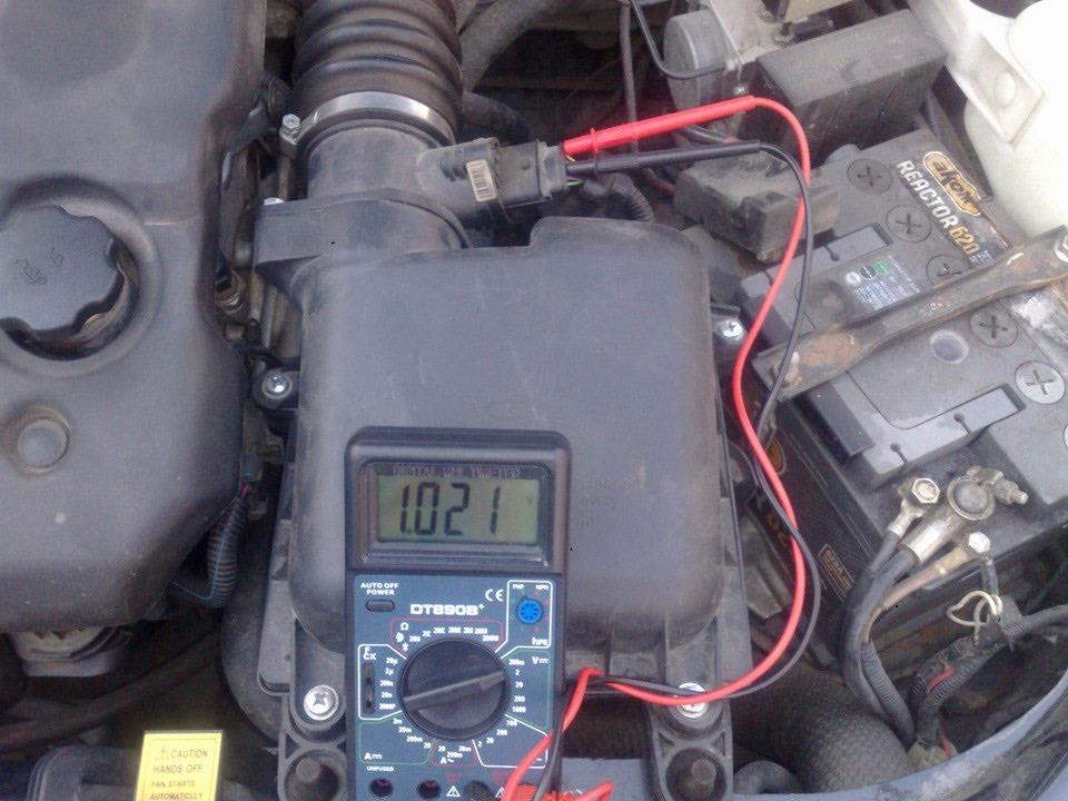 Проверка мультиметром ДМРВ Лада Гранта