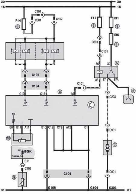 Схема ЭСУД (фрагмент 3)